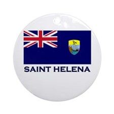 Saint Helena Flag Merchandise Ornament (Round)