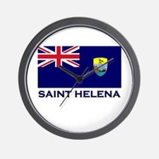 Saint Helena Flag Merchandise Wall Clock