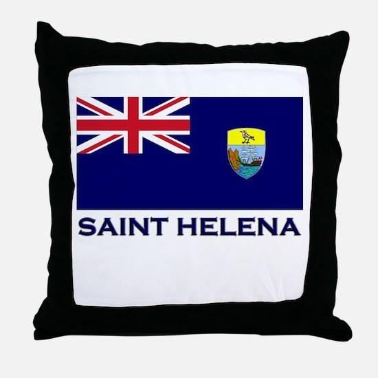 Saint Helena Flag Merchandise Throw Pillow