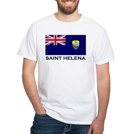 Saint Helena Flag Merchandise White T-Shirt