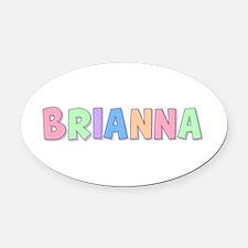 Brianna Rainbow Pastel Oval Car Magnet