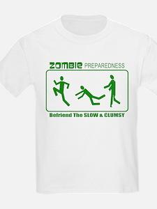 Zombie Preparedness Befriend Slow Clumsy T-Shirt