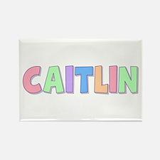 Caitlin Rainbow Pastel Rectangle Magnet