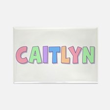 Caitlyn Rainbow Pastel Rectangle Magnet