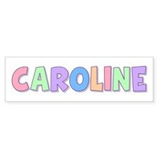 Caroline Rainbow Pastel Bumper Car Sticker