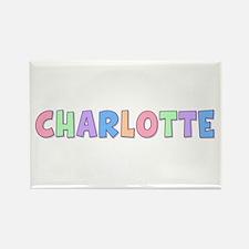 Charlotte Rainbow Pastel Rectangle Magnet