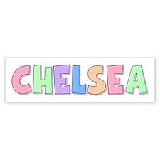Chelsea Rainbow Pastel Bumper Bumper Sticker