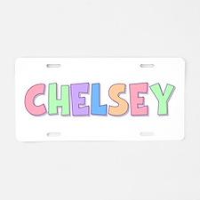Chelsey Rainbow Pastel Aluminum License Plate