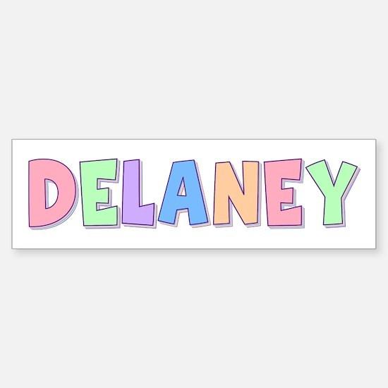 Delaney Rainbow Pastel Bumper Bumper Bumper Sticker
