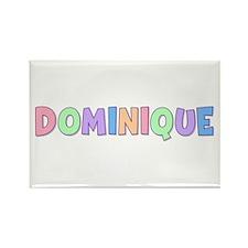 Dominique Rainbow Pastel Rectangle Magnet