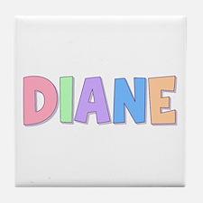 Diane Rainbow Pastel Tile Coaster