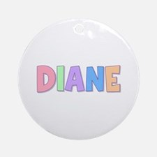 Diane Rainbow Pastel Round Ornament