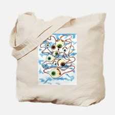 Flying eyes Tote Bag