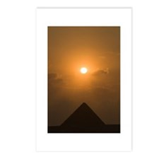 The sun begins to set above The Great Pyramid of G