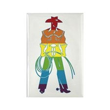 The Gay Cowboy Rectangle Magnet (100 pack)