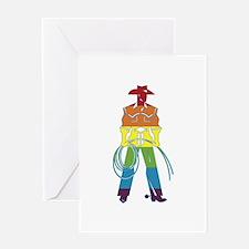 The Gay Cowboy Greeting Card