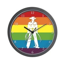 The Gay Cowboy Wall Clock