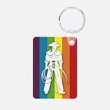 The Gay Cowboy Aluminum Photo Keychain