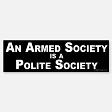 Armed Society Bumper Bumper Bumper Sticker
