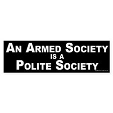 Armed Society Bumper Bumper Sticker