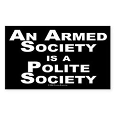 Armed Society Rectangle Decal