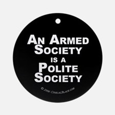 Armed Society Ornament (Round)