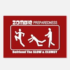 Zombie Preparedness Befriend Slow Clumsy Postcards