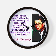 The Great Revolution - John Kennedy Wall Clock