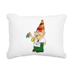 Manny The Mason Rectangular Canvas Pillow