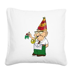 Manny The Mason Square Canvas Pillow