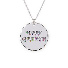 Merry Christmas (O) Necklace Circle Charm