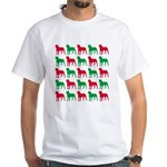 Rottweiler Christmas or Holiday Silhouettes White
