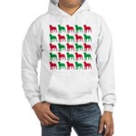 Rottweiler Christmas or Holiday Silhouettes Hooded