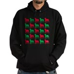 Rottweiler Christmas or Holiday Silhouettes Hoodie