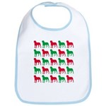 Rottweiler Christmas or Holiday Silhouettes Bib