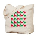 Rottweiler Christmas or Holiday Silhouettes Tote B