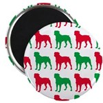 Rottweiler Christmas or Holiday Silhouettes Magnet