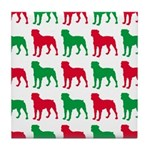 Rottweiler Christmas or Holiday Silhouettes Tile C