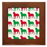 Rottweiler Christmas or Holiday Silhouettes Framed