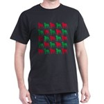 Rottweiler Christmas or Holiday Silhouettes Dark T