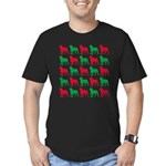 Rottweiler Christmas or Holiday Silhouettes Men's