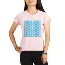 Blue Seahorse Pattern. Performance Dry T-Shirt