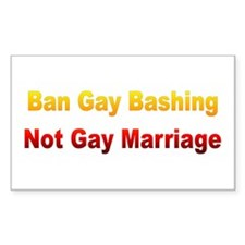 Gay Marriage Rectangle Decal