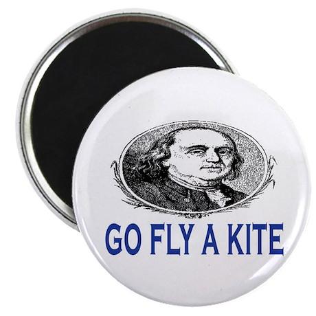 """GO FLY A KITE - BEN FRANKLIN 2.25"""" Magnet (10 pack"""