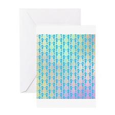 Pastel Seahorse Pattern. Greeting Card