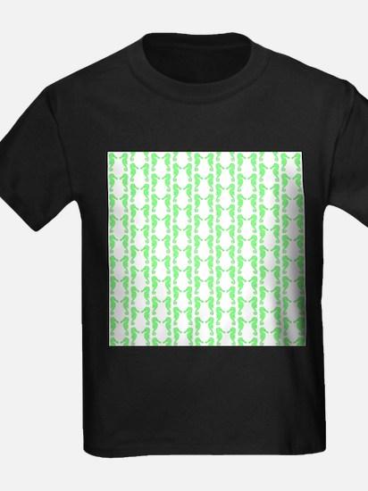 Green Seahorse Pattern. T