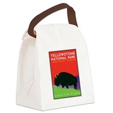 Yellowstone Bison Canvas Lunch Bag