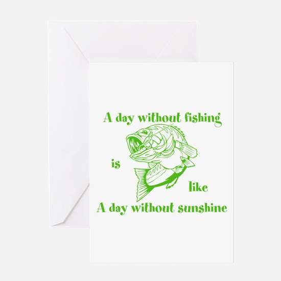 A day without fishing Greeting Card