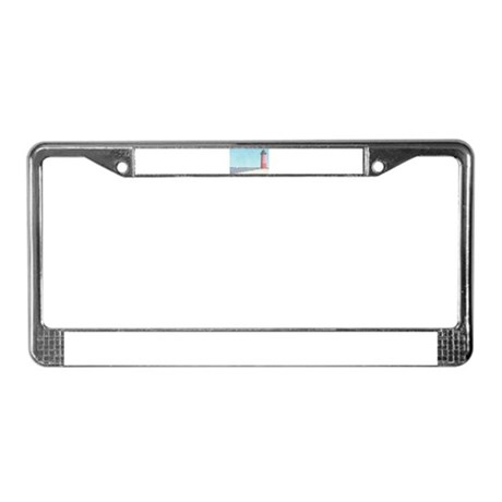 Lighthouse on the Lake License Plate Frame
