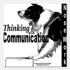 Nose work search border collie Square Car Magnet 3